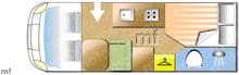 Rapido 640F, 2016 motorhome layout