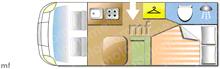 Rimor Seal 12P, 2018 motorhome layout