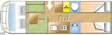 Laika KREOS 7019, 2014 motorhome layout