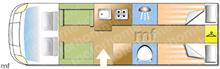 Benimar Mileo 264, 2019 motorhome layout