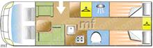 Dethleffs Esprit 88 t7150-2DBM, 2020 motorhome layout