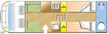 Elddis Chatsworth 185, 2019 motorhome layout