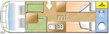 Dethleffs Trend i7017, 2019 motorhome layout