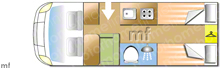 Adria Twin Supreme 640 SLB, 2021 motorhome layout