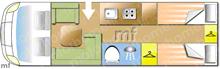 Autotrail Imala 734, 2018 motorhome layout