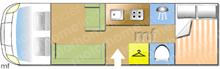 Swift Kon Tiki Sport 597, 2021 motorhome layout