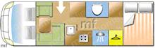 Rapido 997M, 2007 motorhome layout