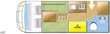 Adria Matrix Axess 520 ST, 2021 motorhome layout