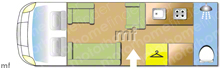 Swift Kon-tiki Sport 524 150BHP, 2020 motorhome layout