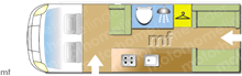 Autotrail EXPEDITION 67 , 2021 motorhome layout