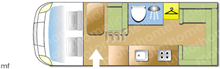 Swift Compact C404, 2021 motorhome layout