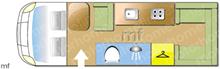 Elddis Autoquest 145, 2009 motorhome layout