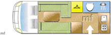 Bessacarr 424, 2015 motorhome layout