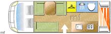 Swift Lifestyle 696, 2013 motorhome layout